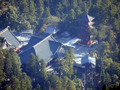 山頂からの久遠寺全容.JPG